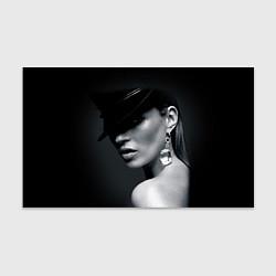 Бумага для упаковки Девушка в шляпе цвета 3D — фото 1