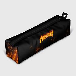 Пенал для ручек Thrasher: Hell Flame цвета 3D — фото 1