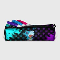 Школьный пенал с принтом Brawl stars leon shark, цвет: 3D, артикул: 10207752505837 — фото 2