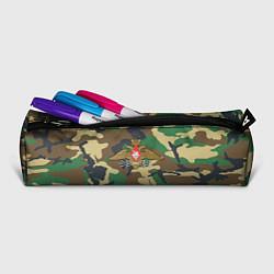 Пенал для ручек Камуфляж Войска связи цвета 3D-принт — фото 2