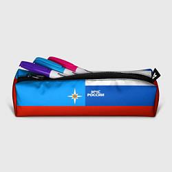 Пенал для ручек Флаг МЧС России цвета 3D-принт — фото 2