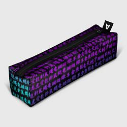 Пенал для ручек НЕОНОВЫЕ ИЕРОГЛИФЫ цвета 3D-принт — фото 1