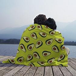 Плед флисовый Стиль авокадо цвета 3D — фото 2