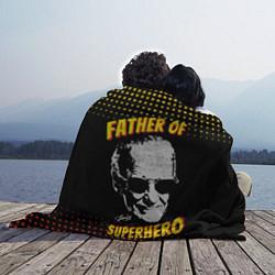 Плед флисовый Stan Lee: Father of Superhero цвета 3D-принт — фото 2