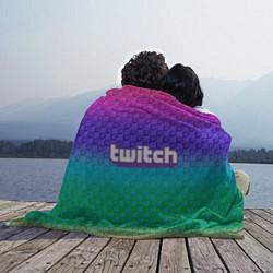 Плед флисовый Rainbow Twitch цвета 3D-принт — фото 2