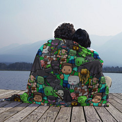 Плед флисовый Жители Майнкрафт цвета 3D-принт — фото 2