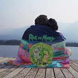 Плед флисовый Путешествия Рика и Морти цвета 3D-принт — фото 2