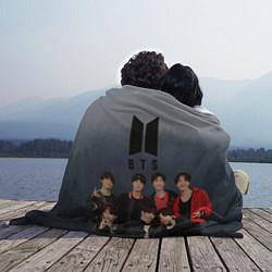Плед флисовый BTS Forest цвета 3D-принт — фото 2
