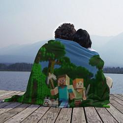 Плед флисовый Minecraft цвета 3D-принт — фото 2