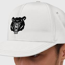 Кепка-снепбек Ярость медведя цвета белый — фото 1