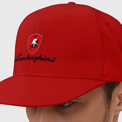 Кепка-снепбек Logo lamborghini цвета красный — фото 1