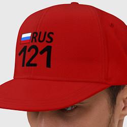 Кепка-снепбек RUS 121 цвета красный — фото 1