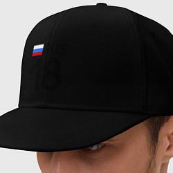 Кепка-снепбек RUS 18 цвета черный — фото 1