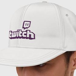 Кепка-снепбек Twitch Logo цвета белый — фото 1