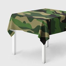 Скатерть для стола Камуфляж: хаки/зеленый цвета 3D — фото 2