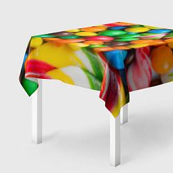 Скатерть для стола Сладкие конфетки цвета 3D — фото 2