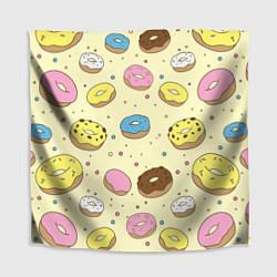 Скатерть для стола Сладкие пончики цвета 3D — фото 1