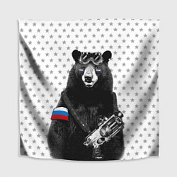 Скатерть для стола Армейский медведь цвета 3D — фото 1