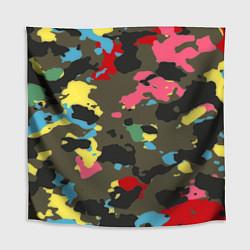 Скатерть для стола Цветной камуфляж цвета 3D — фото 1