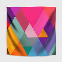 Скатерть для стола Разноцветные полигоны цвета 3D — фото 1