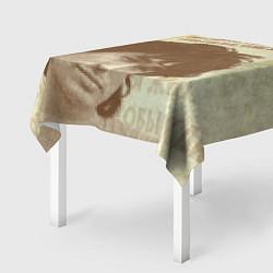 Скатерть для стола Виктор Цой: любовь стоит того цвета 3D — фото 2