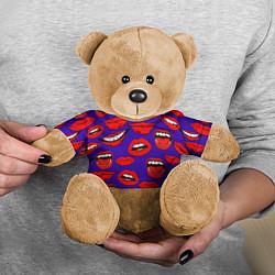 Игрушка-медвежонок Губы цвета 3D-коричневый — фото 2