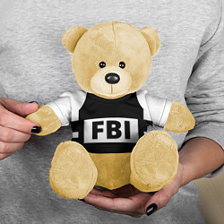 Игрушка-медвежонок Бронежилет FBI цвета 3D-желтый — фото 2