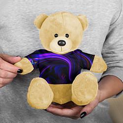 Игрушка-медвежонок Цветные разводы цвета 3D-желтый — фото 2