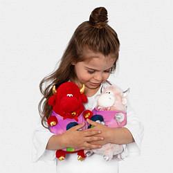 Игрушка-бычок Удав Крейг цвета 3D-светло-розовый — фото 2