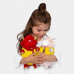 Игрушка-бычок Молдавия: лента с гербом цвета 3D-светло-розовый — фото 2