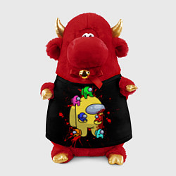 Игрушка-бычок Among Us Амонг Ас цвета 3D-красный — фото 1