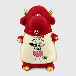 Игрушка-бычок Я люблю год быка цвета 3D-красный — фото 1