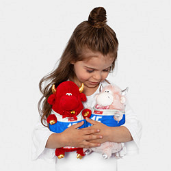 Игрушка-бычок Russia: from 15 цвета 3D-светло-розовый — фото 2