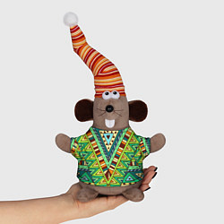 Игрушка-мышка Этно цвета 3D-серый — фото 1