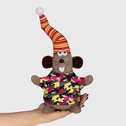 Игрушка-мышка Камуфляж: желтый/черный/розовый цвета 3D-серый — фото 1