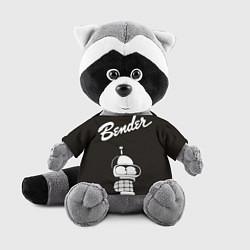 Игрушка-енот Bender Retro цвета 3D-серый — фото 1