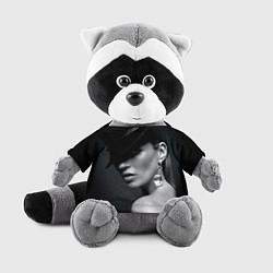 Игрушка-енот Девушка в шляпе цвета 3D-серый — фото 1