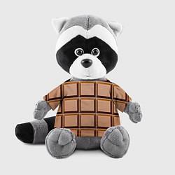 Игрушка-енот Шоколад цвета 3D-серый — фото 1
