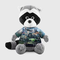 Игрушка-енот За родину цвета 3D-серый — фото 1