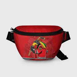 Поясная сумка Chicago Blackhawks цвета 3D-принт — фото 1
