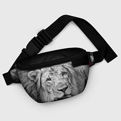 Поясная сумка Милый лев цвета 3D-принт — фото 2