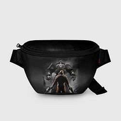 Поясная сумка Wolfenstein Battle цвета 3D-принт — фото 1