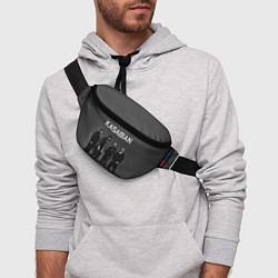 Поясная сумка Kasabian: Boys Band цвета 3D-принт — фото 2