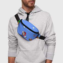 Поясная сумка Mario цвета 3D-принт — фото 2