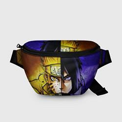 Поясная сумка Наруто и Саске цвета 3D-принт — фото 1