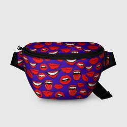 Поясная сумка Губы цвета 3D-принт — фото 1