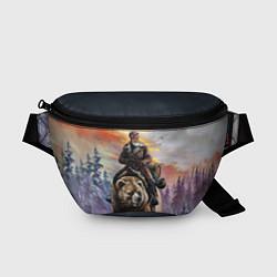Поясная сумка Красноармеец на медведе цвета 3D — фото 1