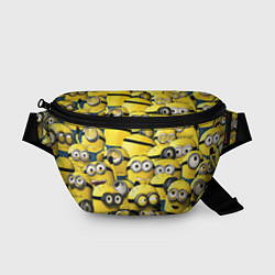Поясная сумка Minions цвета 3D-принт — фото 1