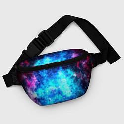 Поясная сумка Голубая вселенная цвета 3D — фото 2