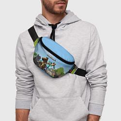 Поясная сумка Minecraft Rider цвета 3D — фото 2